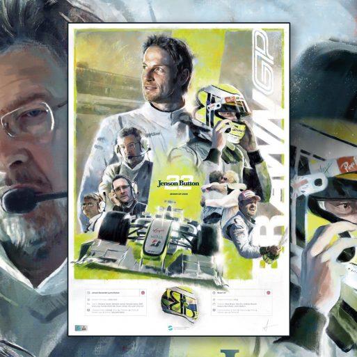 Jenson Button Formula 1 Wall Art F1 Poster