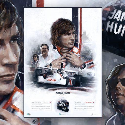 James Hunt Formula 1 Wall Art F1 Poster