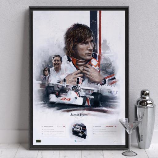 Image of F1 driver Hunt Wall Art