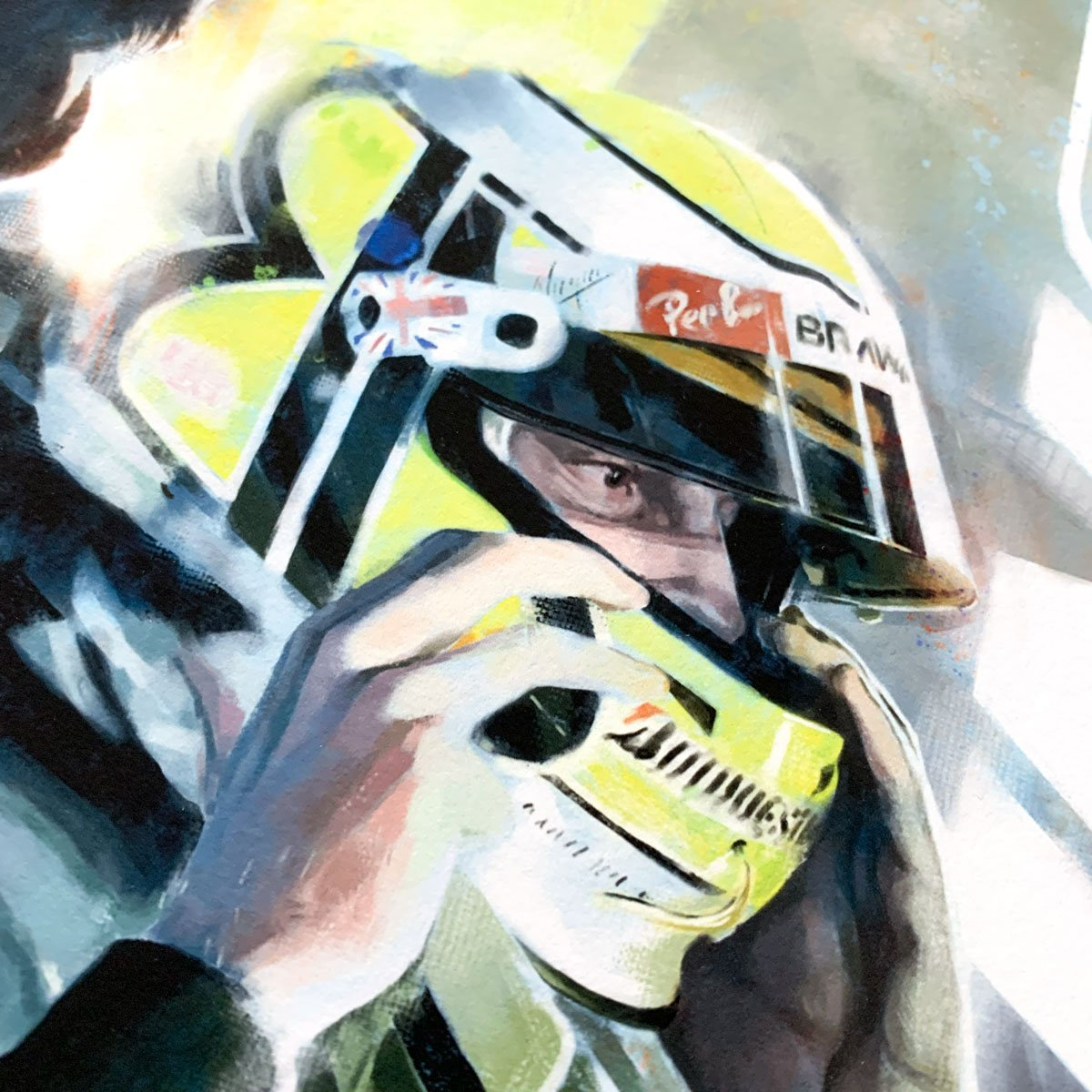 Jenson Button Formula 1 Wall Art F1 Poster Detail