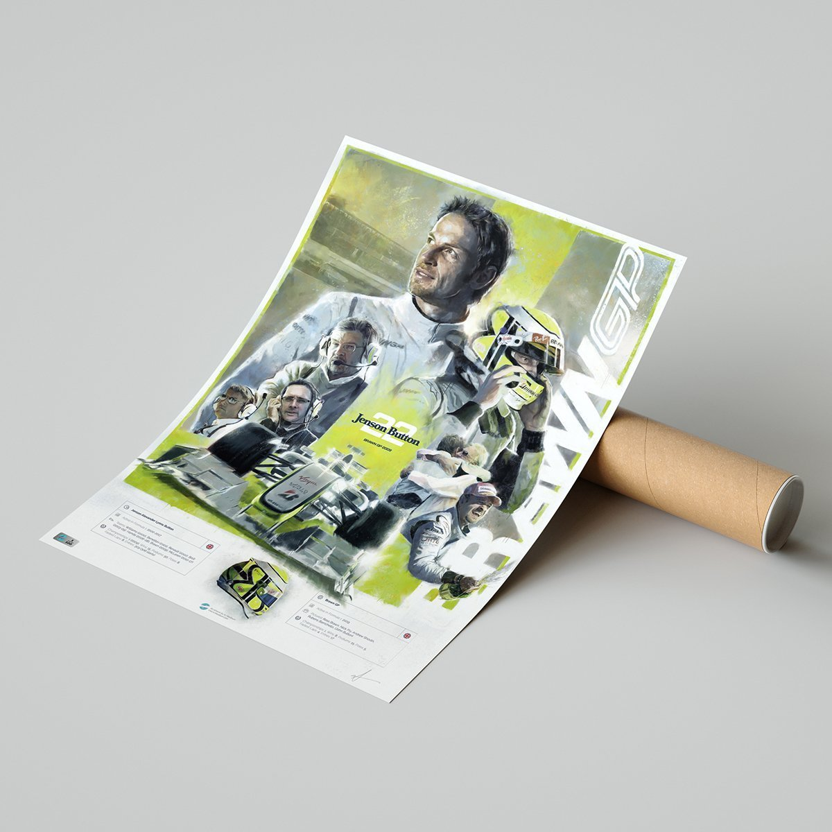 Jenson Button Poster and Tube