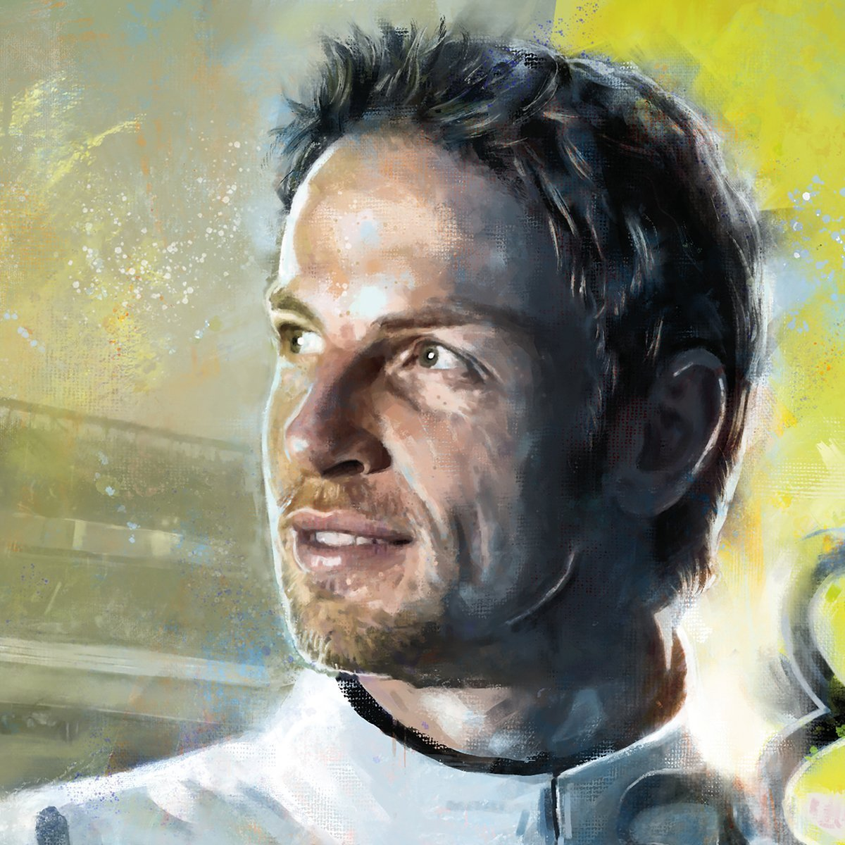 Jenson Button Poster Detail