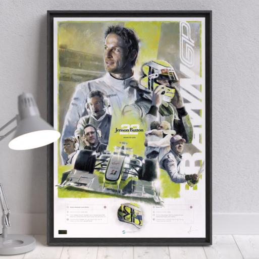 Image of F1 driver Jenson Button Wall Art