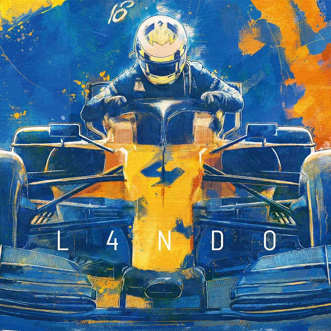 Lando Norris McLaren Formula 1 Wall Art F1 Poster Detail