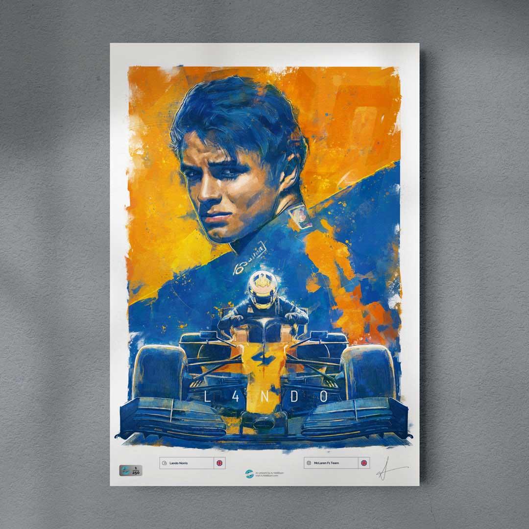 Lando Norris McLaren Poster Formula 1 Wall Art F1 Poster