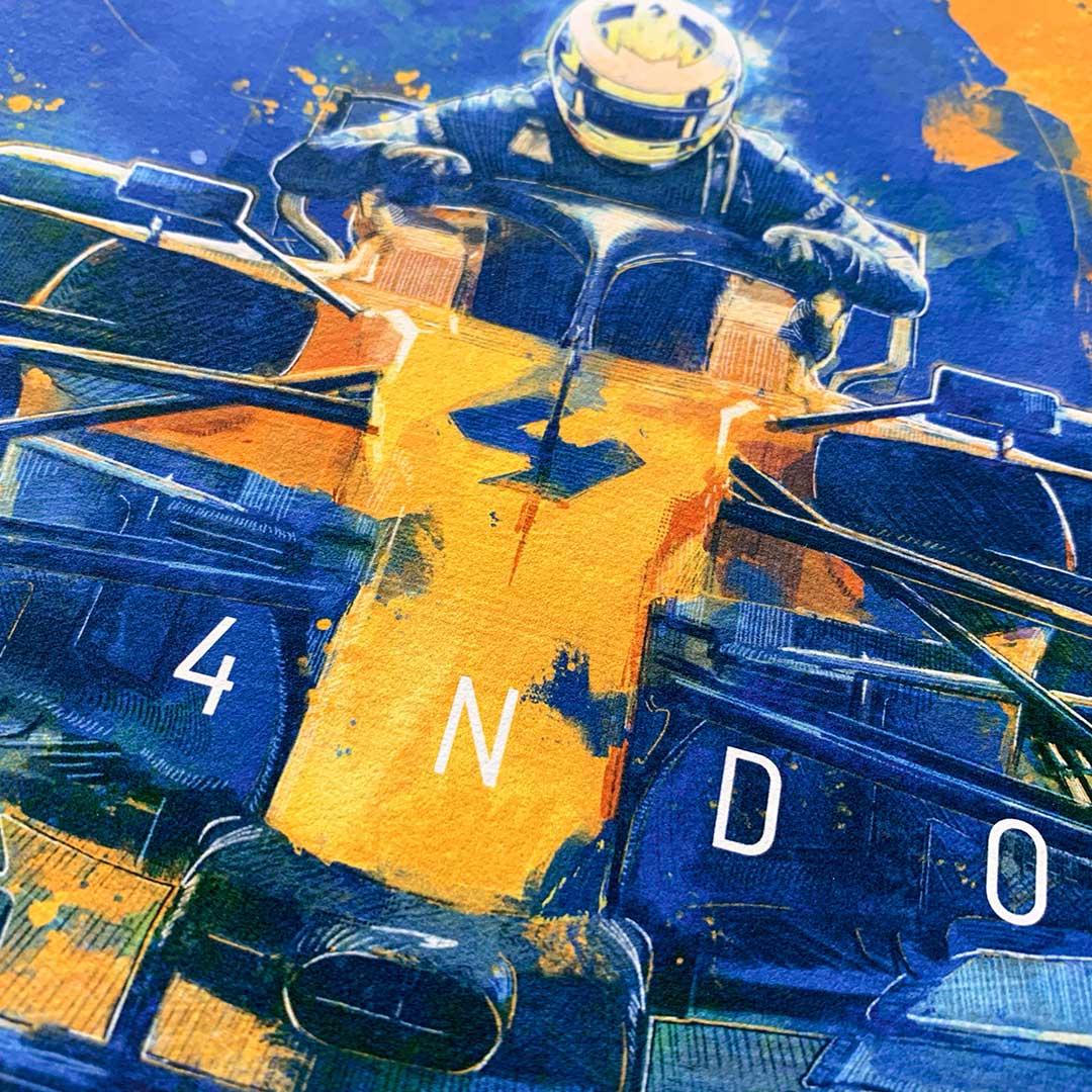 Lando Norris Formula 1 Wall Art
