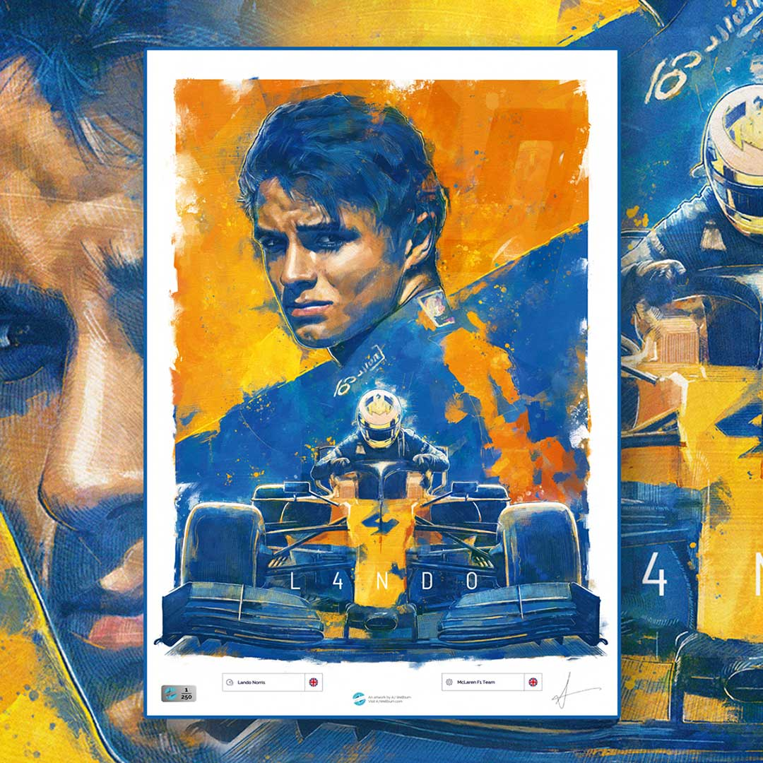 Lando Norris Formula 1 Wall Art F1 Poster