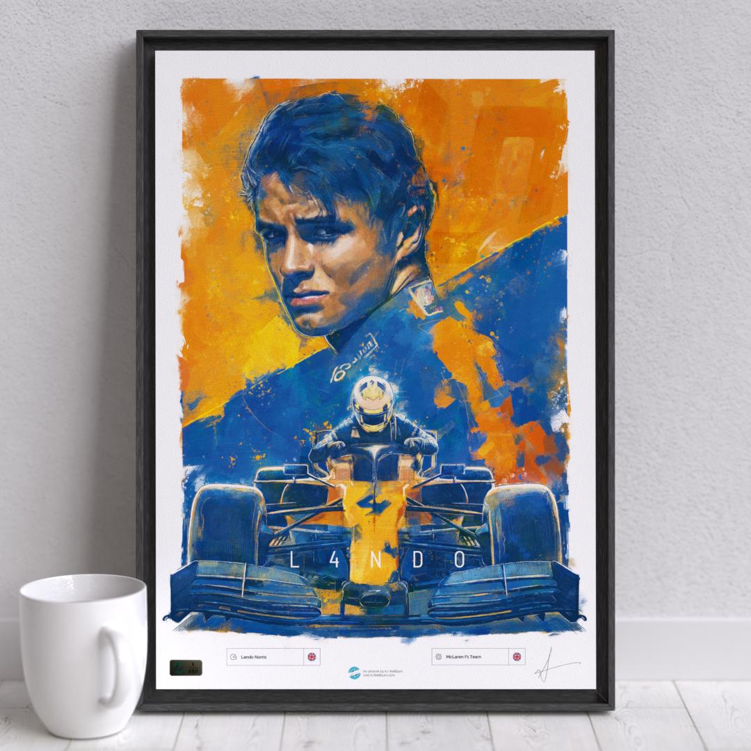 Image of F1 driver Lando Norris Wall Art