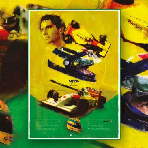 Senna Formula 1 Poster