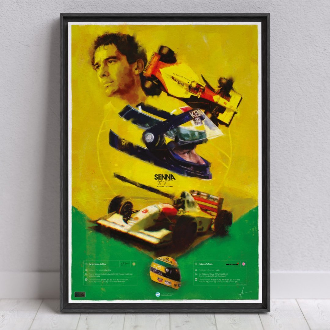 Image of F1 driver Senna Wall Art