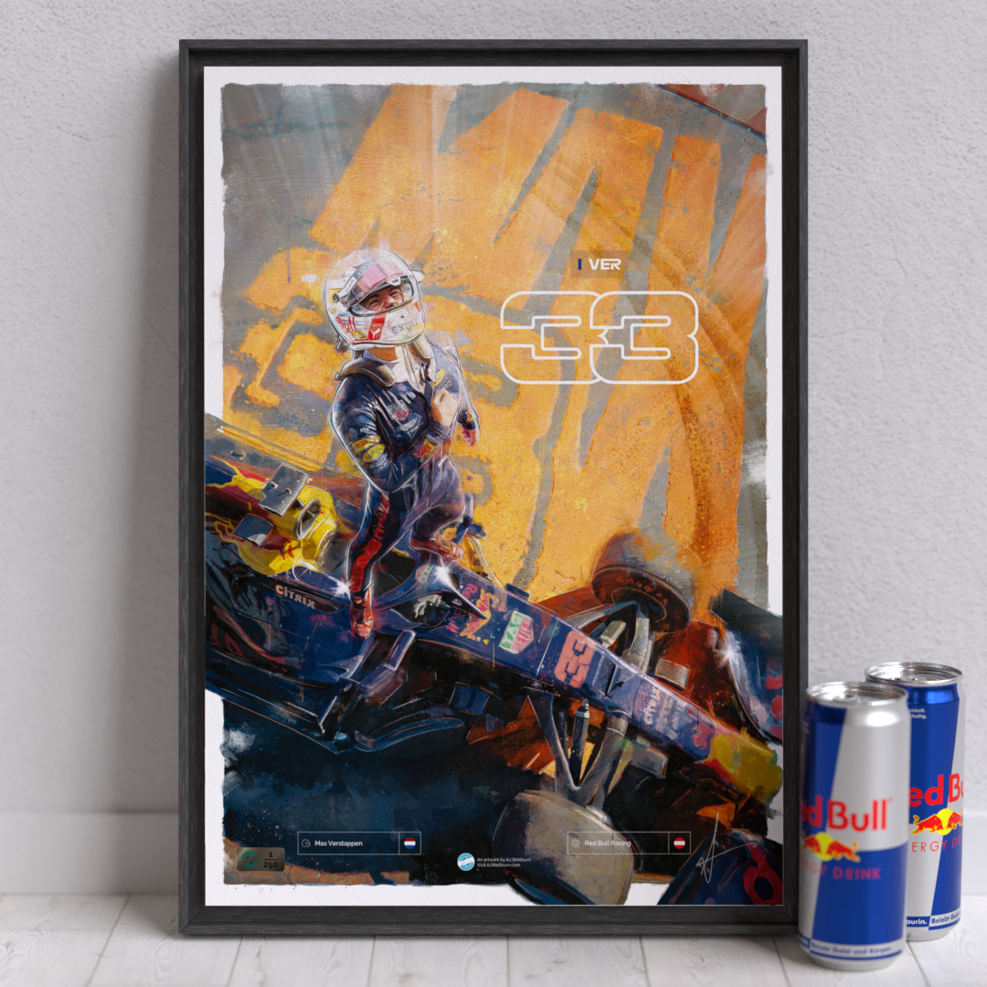 Image of F1 driver Max Verstappen Wall Art