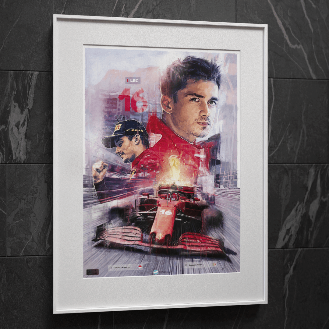 Image of F1 driver Charles Leclerc Wall Art