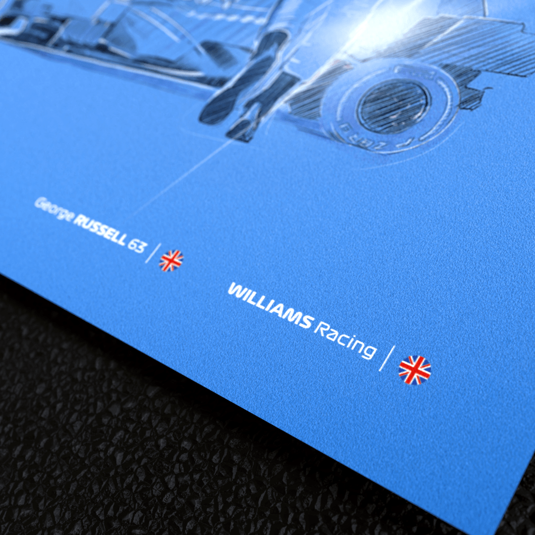 Image of F1 driver George Russell Alt Wall Art